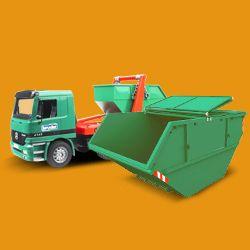 KT3 green rubbish collector New Malden